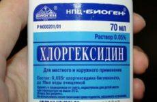 Полоскання горла хлоргексидином