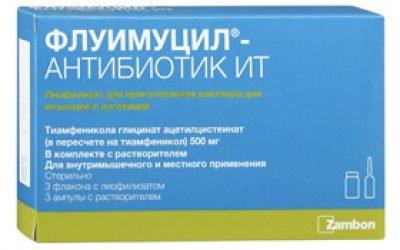 Флуімуціл антибіотик іт – інструкція, показання, застосування