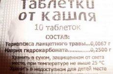 Таблетки від кашлю з термопсисом – інструкція застосування