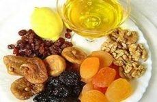 Вітамінна суміш із сухофруктів з горіхами, медом, лимоном для імунітету