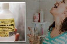 Лікування ангіни перекисом водню – як полоскати горло?