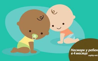 Як лікувати нежить у дитини 4 місяців – безпечні ліки, народні засоби