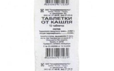 Таблетки від кашлю – інструкція із застосування, аналоги, ціна
