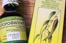 Як застосовувати хлорофіліпт при гаймориті (промивання, ингалияция, краплі)