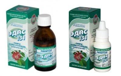 Ринитол Эдас 131: інструкція по застосуванню препарату при гаймориті
