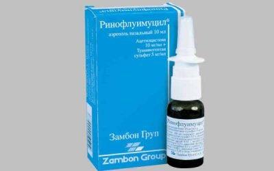 Ринофлуимуцил при гаймориті і нежиті: як застосовувати для лікування?