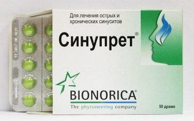 Синупрет при гаймориті, нежиті і закладеності носа: лікування таблетками і сиропом