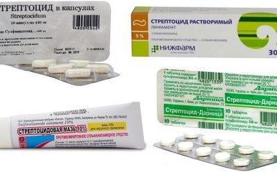Стрептоцид порошок і таблетки: інструкція по застосуванню для горла при ангіні